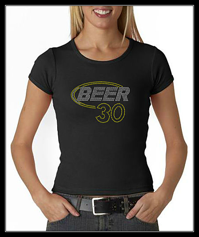 BEER 30 RHINESTONE SHIRT
