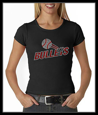 BULLETS BASEBALL RHINESTONE SHIRT