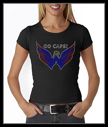 WASHINGTON CAPS RHINESTONE SHIRT