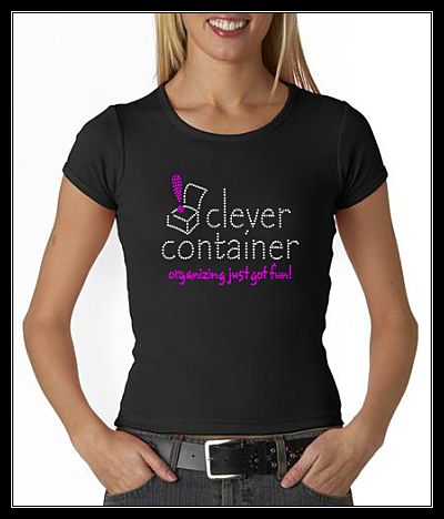 CLEVER CONTAINER RHINESTONE SHIRT