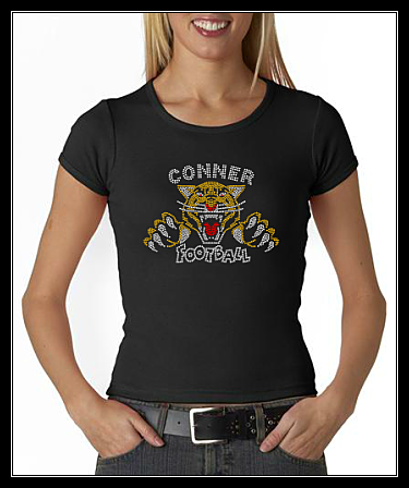 CONNER FOOTBALL RHINESTONE SHIRT