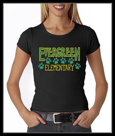 EVERGREEN ELEMENTARY SCHOOL RHINESTONE SHIRT