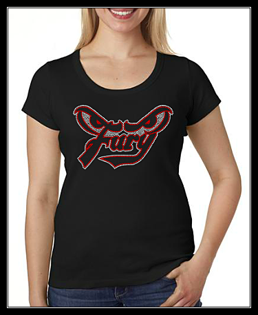 FURY SOFTBALL RHINESTONE SHIRT