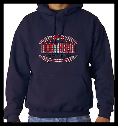 NORTHERN FOOTBALL RHINESTONE SWEATSHIRT - NAVY