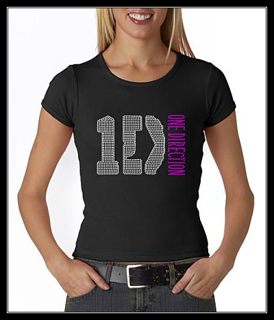 ONE DIRECTION (1 DIRECTION) RHINESTONE TRANSFER