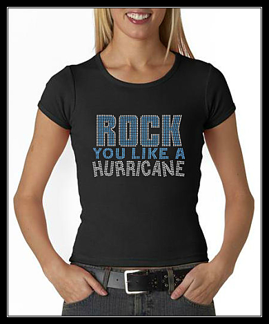 ROCK YOU LIKE A HURRICANE RHINESTONE TRANSFER