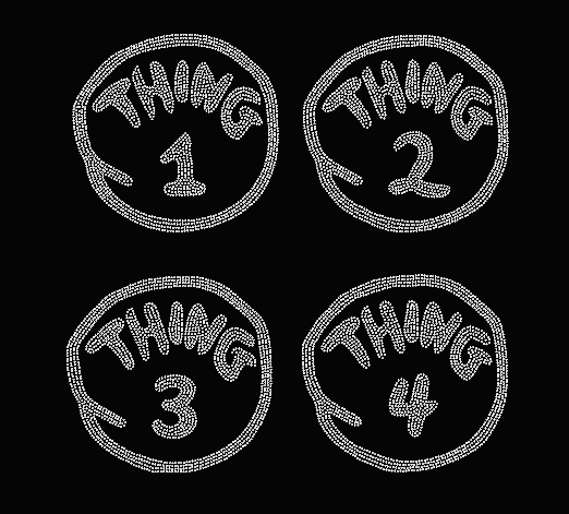 DR. SEUSS THING 1 THING 2 ETC RHINESTONE TRANSFER