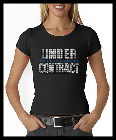 UNDER CONTRACT RHINESTONE SHIRT