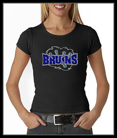 BRUINS - BRUINS-BLUE RHINESTONE SHIRTBLUE RHINESTONE SHIRT
