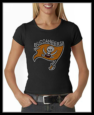 BUCCANEERS FOOTBALL RHINESTONE SHIRT