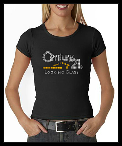 CENTURY 21 LOOKING GLASS RHINESTONE SHIRT