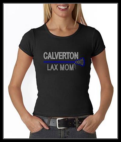 CALVERTON LAX MOM RHINESTONE SHIRT