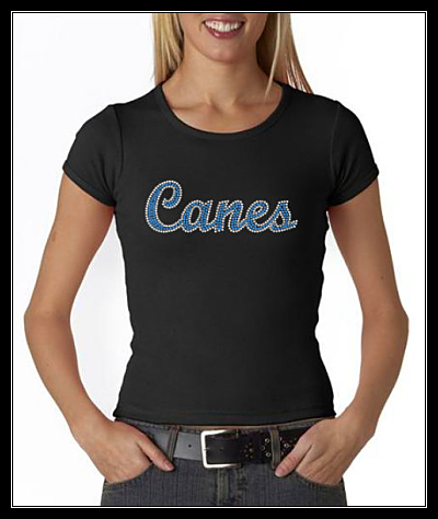 CANES OPTION 2 RHINESTONE SHIRT