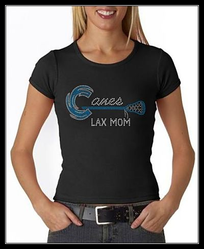 HURRICANES LAX MOM RHINESTONE SHIRT