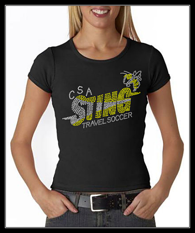 CSA STING TRAVEL SOCCER RHINESTONE SHIRT