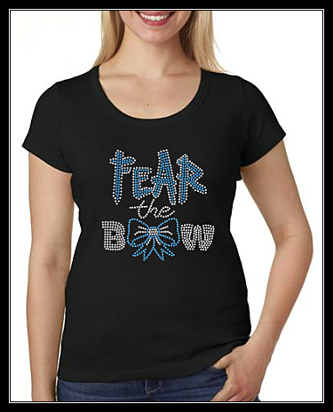 FEAR THE BOW RHINESTONE SHIRT