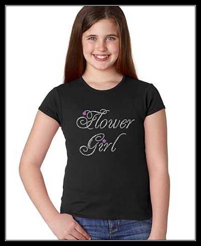 FLOWER GIRL RHINESTONE TRANSFER