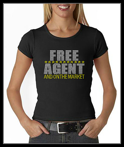 FREE AGENT RHINESTONE SHIRT- ON THE MARKET
