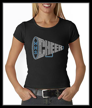 HUNTINGTOWN HIGH SCHOOL- HHS CHEER RHINESTONE SHIRT