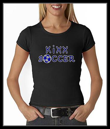 KiXX SOCCER RHINESTONE SHIRT