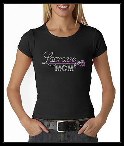 LACROSSE MOM RHINESTONE SHIRT
