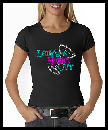 LADY'S NIGHT OUT RHINESTONE SHIRT