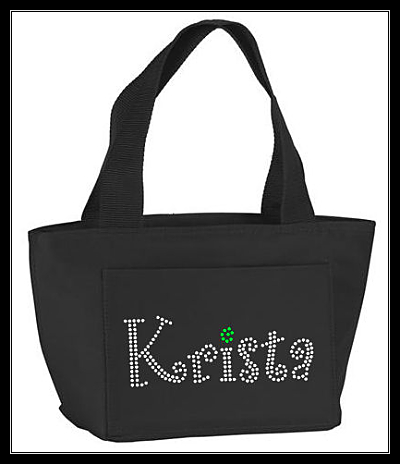 CUSTOM NAME RHINESTONE LUNCH BAG