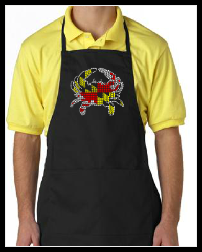 RHINESTONE MARYLAND CRAB APRON