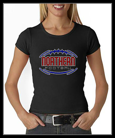 NORTHERN FOOTBALL RHINESTONE SHIRT