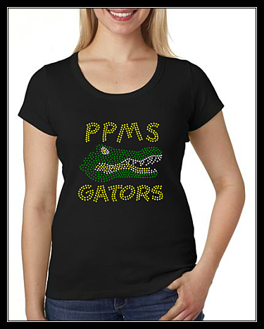 PLUM POINT MIDDLE SCHOOL GATORS RHINESTONE SHIRT