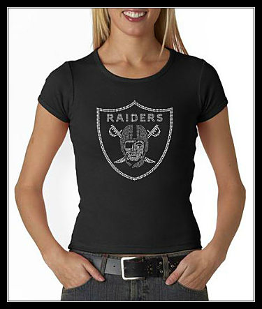 RAIDERS RHINESTONE SHIRT