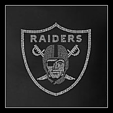 RAIDERS RHINESTONE TRANSFER