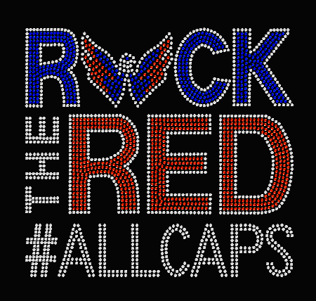ROCK THE RED ALLCAPS WASHINGTON CAPITALS TRANSFER