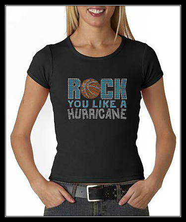 ROCK YOU LIKE A HURRICANE - BASKETBALL RHINESTONE SHIRT