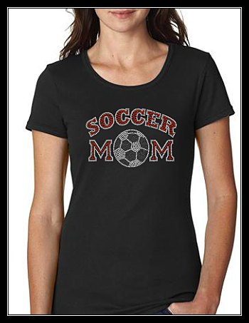 SOCCER MOM 1 RHINESTONE SHIRT