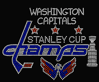 WASHINGTON CAPITALS STANLEY CUP BLUE CHAMPS TRANSFER