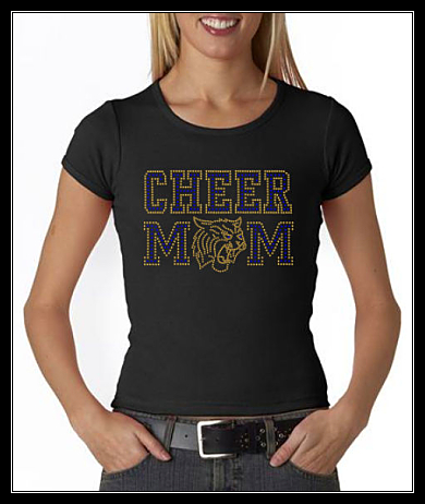 WILDCATS CHEER MOM RHINESTONE SHIRT