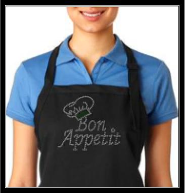 BON APETIT RHINESTONE TRANSFER OR DIGITAL DOWNLOAD