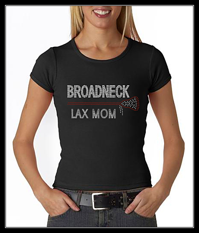 BROADNECK LAX MOM RHINESTONE SHIRT