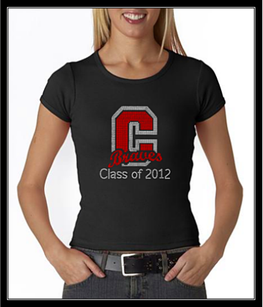 CUSTOM CHOPTICON BRAVES 201? RHINESTONE SHIRT