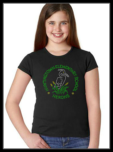 HUNTINGTOWN ELEMENTARY SCHOOL YOUTH RHINESTONE CUSTOM SHIRT