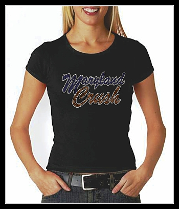 MARYLAND CRUSH SOFTBALL RHINESTONE CUSTOM SHIRT