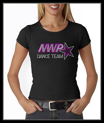 NWP DANCE TEAM RHINESTONE SHIRT