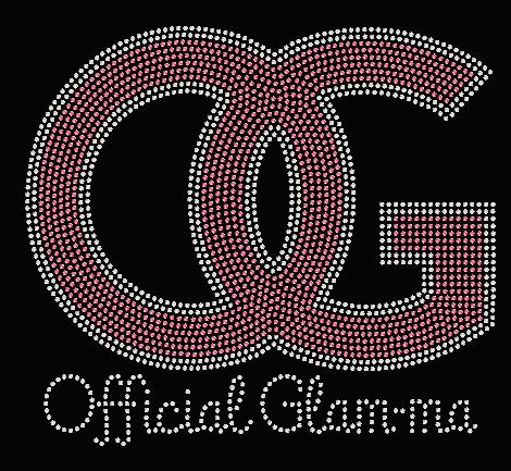 OG -ORIGINAL GLAM-MA RHINESTONE TRANSFER