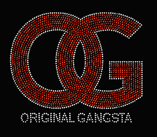 OG -ORIGINAL GANGSTA RHINESTONE TRANSFER or DIGITAL FILE