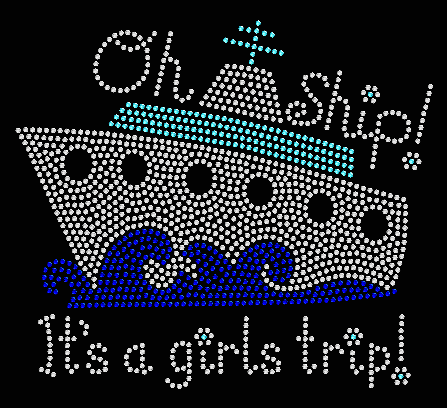 GIRLS TRIP RHINESTONE TRANSFER