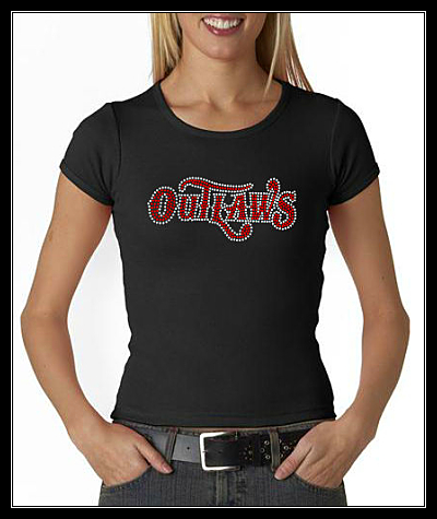 OUTLAWS RHINESTONE SHIRT