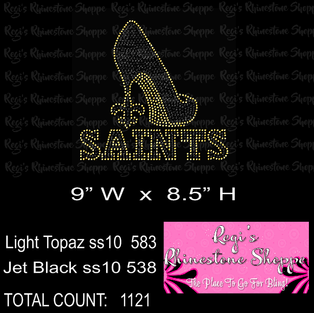 SAINTS HIGH HEEL RHINESTONE DIGITAL DOWNLOAD
