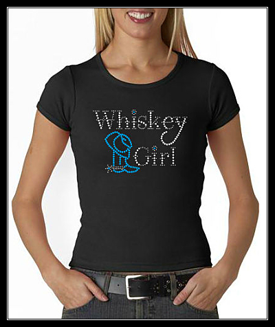 WHISKEY GIRL RHINESTONE SHIRT