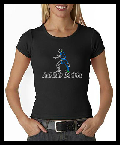 ACRO MOM RHINESTONE SHIRT